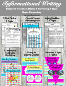 Informative Writing/ Genius Hour Research Notebook & Posters
