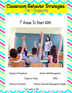 Classroom Behavior Supports (Tier 1)